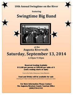 Don't Miss the 10th Annual Swingtime on the River!!!