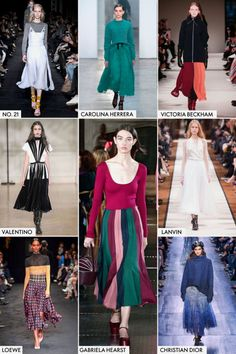 Major designers like Christian Dior, Loewe, and Victoria Beckham are pirouetting toward ballet beautiful styles this fall. They showcased a flattering skirt hemmed at the calf with full, flouncy movement.