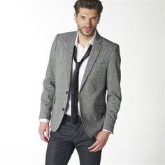 9cf1338d082d9 Marynarka tweedowa Tweed Jacket, Suit Jacket, Dressing, Elbow Patches,  Single Breasted,