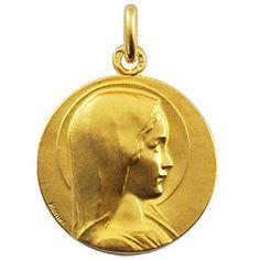 Cette médaille de la Vierge par Arthus-Bertrand fera un cadeau de baptême parfait.