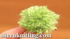 MINI POMPOMS http://sheruknitting.com/videos-about-knitting/crochet-elements-and-projects/item/645-mini-pompoms.html Tutorial 12 Method 7 of 8. How to make pompoms? Making a yarn pompoms easy steps. Learn an easy way to make a pompom at home.