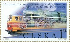 (Polonia) (Railway in Poland) Mi:PL 3770 Trains, Rail Transport, Stamp Collecting, Locomotive, Postage Stamps, Transportation, History, Mail Art, Buses