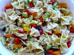 Melinda's Musings: Garden Pasta Salad and Other Delectable BBQ Items