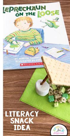 Literacy Snack Idea Leprechaun + Free Printable