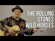 The Rolling Stones - Wild Horses - How to Play On Guitar - Easy Acoustic Songs Acoustic Guitar Strap, Acoustic Guitar Lessons, Guitar Songs, Guitar Chords, Acoustic Guitars, Guitar Tabs, Guitar Classes, Beatles Guitar, Guitar Gifts
