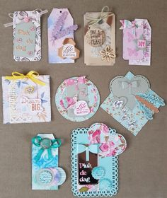 Embellishments; tags, labels
