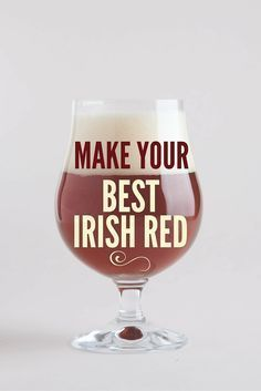 Your Best Irish Red Perfect your Irish Red recipe before St.Perfect your Irish Red recipe before St. Beer Brewing Kits, Brewing Recipes, Homebrew Recipes, Beer Recipes, Coffee Recipes, Red Ale Recipe, Irish Red Beer Recipe, Irish Drinks, Home Brewery
