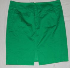 EXPRESS Stretch Pencil Skirt Slit Green lined 8 #Express #StraightPencil