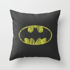 Batman Distressed Symbol Throw Pillow
