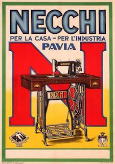 Vintage Ad,,Necchi Industrial Sewing Machine