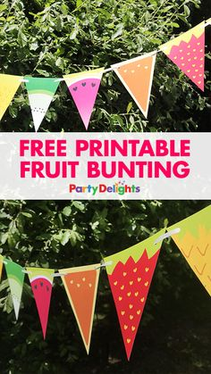 Planning a summer party? Download our free printable fruit bunting - a fun summer party decoration that's low cost and super easy to put together.