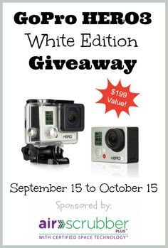 Clean Air GoPro Giveaway Event 10/15 - Tales From A Southern Mom