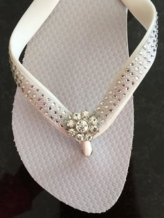 91e8dfb52a06 Items similar to BRIDAL Flip Flops!Wedding Flip Flops Wedges.Bling Flip  Flops.Rhinestone Shoes.Beach Wedding.Rhinestone Flip Flops Sandals Thongs.  on Etsy