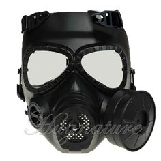M04 Airsoft GAS MASK Protecter FULL FACE Goggles Fan