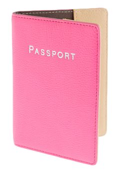 Leather Colorblock Passport Case