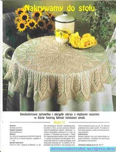 Home Decor Crochet Patterns Part 59 - Beautiful Crochet Patterns and Knitting Patterns Crochet Bedspread, Crochet Tablecloth, Round Tablecloth, Crochet Doilies, Lace Tablecloths, Crochet Books, Thread Crochet, Filet Crochet, Mantel Redondo A Crochet