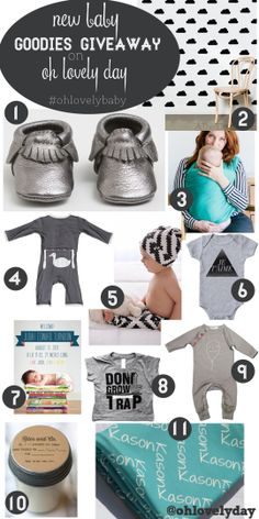 baby goodies giveaway on Oh Lovely Day - win everything you see here! #giveaway #baby