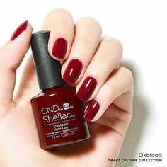 Red Shellac Nails, Oxblood Nails, Shellac Nail Colors, 3d Nail Art, Essie, Cnd Colours, Cute Pink Nails, Gel Uv, Different Nail Designs