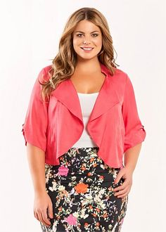 Fashion Plus Size - Large Size Womens Clothes, Tops & Dresses | Fashionable Plus Size Clothes - BLONDIE JACKET - Virtu
