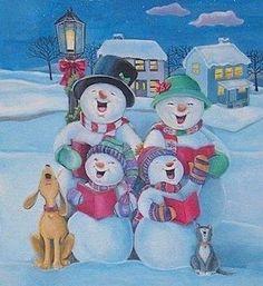 Caroling Snow Family