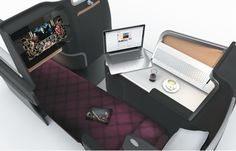 Great article on this sleek seat design on thedesginair.net  Marc Newson's New Qantas A330 Seating