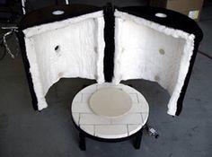 Gas kilns, power burners, bronze casting, and heat treatment furnaces. Clay Studio, Ceramic Studio, Pottery Kiln, Ceramic Glaze Recipes, Raku Kiln, Fire Clay, Farmhouse Furniture, Barrel, Stoves