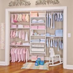 Great for organizing the nursery closet!