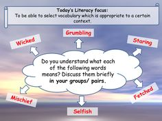 A little literacy starter for any lesson on vocabulary - uses recording of george's Marvellous Medicine Education And Literacy, Special Education, Teaching Resources, English Units, Primary English, Roald Dahl Activities, Literacy Display, Georges Marvellous Medicine, World Book Day Ideas