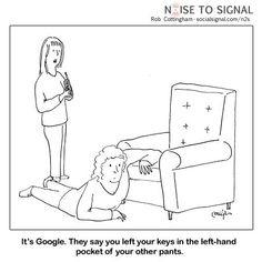 HUMOR: Google helpt bij vinden van sleutels.