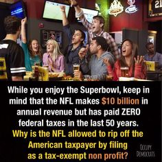 We love football, but why is the American taxpayer showering a profitable corporation with corporate welfare?