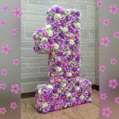 Объемная цифра (80 см) из цветочков с листочками - купить или заказать в интернет-магазине на Ярмарке Мастеров | Большие цифры будут отличным украшением…