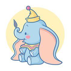 I love all of Jerrod Maruyama's pieces. Dumbo Disney Kawaiicon by Jerrod Maruyama.