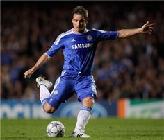 Franks Lampard on the spot.