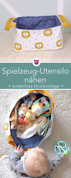 Spielzeug Utensilo nähen – DIY Eule Sewing toy silo for babies and toddlers – DIY fabric basket for toys. Sewing instructions with free sewing pattern from DIY owl. Owl Sewing, Sewing Toys, Baby Sewing, Sewing Patterns Free, Free Sewing, Sewing Tutorials, Sewing Projects, Sewing Ideas, Knitting Patterns