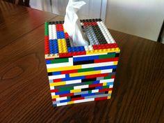 Lego Tissue Box Cover - All Genuine Lego Pieces. $59.95, via Etsy.