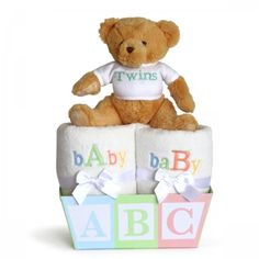 Triplets and quadruplets gift basket gift baskets wagons this adorable and unique baby gift for twins has each of the babies covered beautifully negle Images