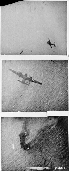 AUG 19 1942 Operation Jubilee – the raid on Dieppe Stills from camera gun footage taken from a Supermarine Spitfire Mark V flown by Sergeant M Liskutin of No. 312 (Czechoslovak) Squadron RAF, as he shot down a Dornier Do 217 over the English Channel, while on patrol over a convoy of returning vessels from the Dieppe raid.