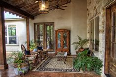 Example of patio with French doors leading from MBR