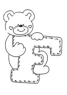 abecedario de ositos Alphabet Templates, Alphabet Symbols, Cute Coloring Pages, Coloring Books, Felt Patterns, Embroidery Patterns, Maternelle Grande Section, Alphabet Quilt, Cartoon Letters