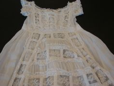 Victorian Christening gown Valenciennes lace