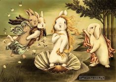 """Birth of Bunny-Venus"" by Shae Syu https://www.facebook.com/646008488743197/photos/ms.c.eJw9zckNwAAIA8GOomDu~;huLBDHPEbBUuxlEUlQl~;Knfr0VY91mzuxS07f7ZZ46icx10rdnH9sB7YP5VnafvRm9fbr59YR~_x~_y~;dY8sPAH8ttg~-~-.bps.a.874772599200117.1073741834.646008488743197/895442213799822/?type=1&theater"