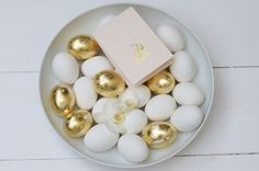 DIY / gold easter eggs