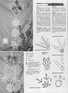 FREE DIAGRAMS ~ Crochet snowflakes scheme