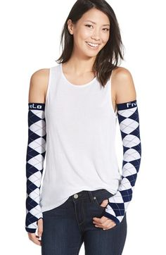 FiveLo 'Dallas' Argyle Arm Sleeves available at #Nordstrom