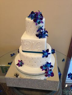 Find This Pin And More On Wedding Cakes Blue Orchids