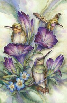 Lovely hummingbird art