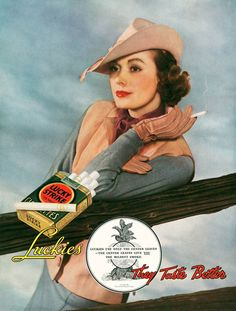 Lucky Strike Girl, ca. 1934.