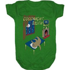Goodnight Sloth Baby Suit