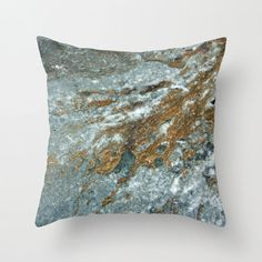 FREE SHIPPING Earthy Blue and Golden Brown Rock by BrookeRyanPhoto, $40.00