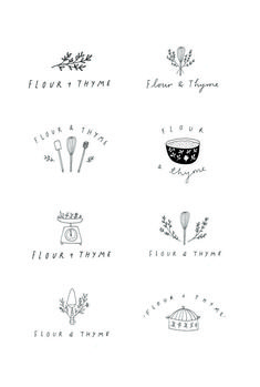 Illustrated logo design by Ryn Frank Design www. Best Picture For app Logo Design For Your Taste You are looking for something, and it is going to tell you exactly what you are looking Design Studio Names, Food Logo Design, Bakery Logo Design, Logo Food, Logo Branding, Bakery Branding, Branding Design, Logo Inspiration, Studio Logo